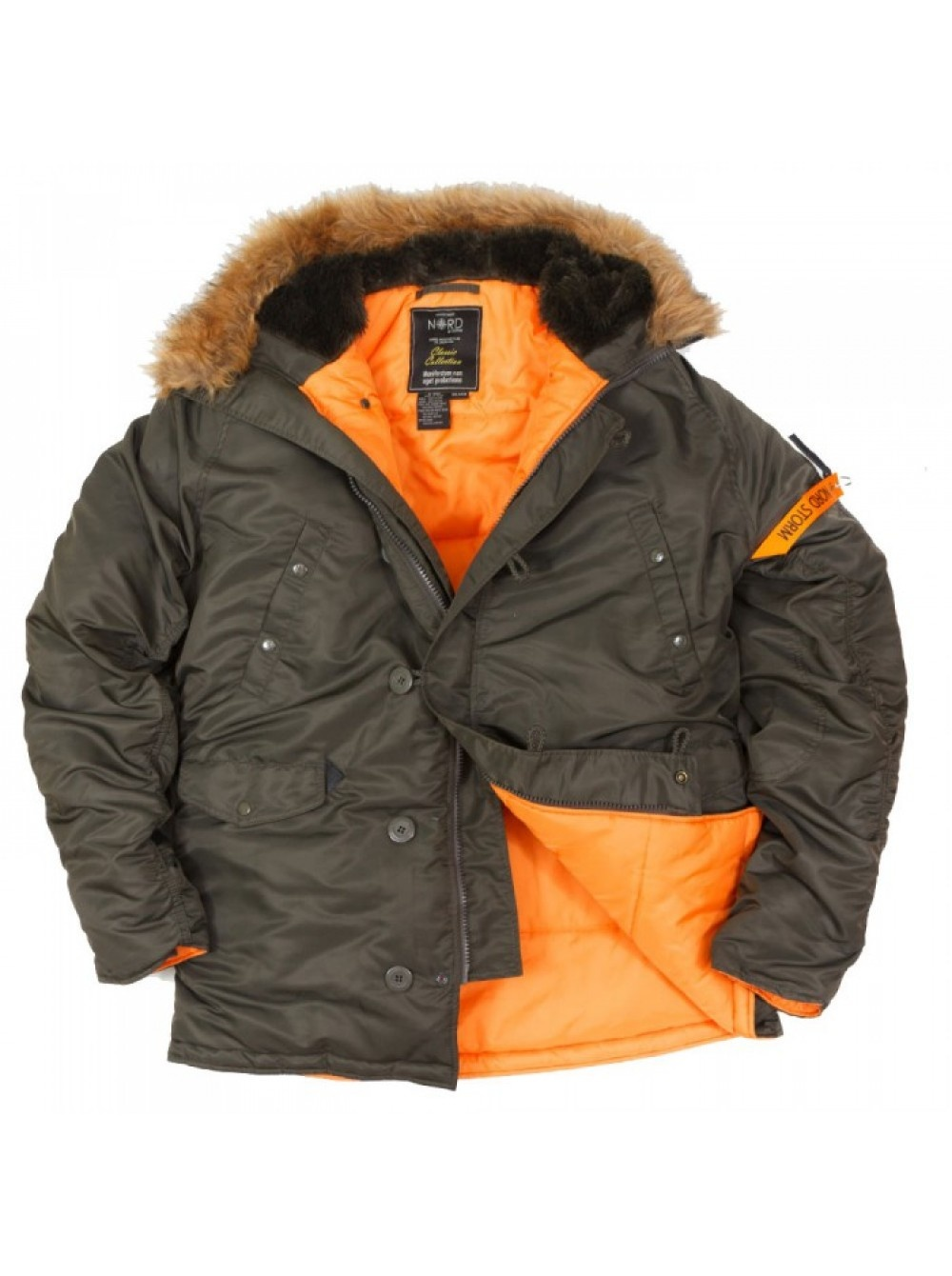 Аляска NordStorm HASKY REP GRAY/ORANGE