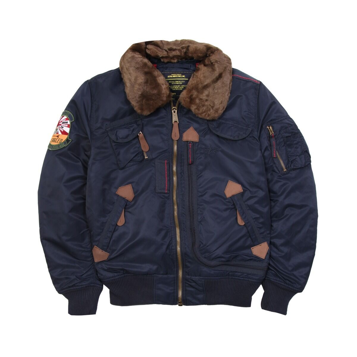 Бомбер INJECTOR ALPHA INDUSTRIES BLUE