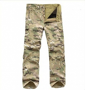 Брюки Soft Shell Shark skin MULTICAM